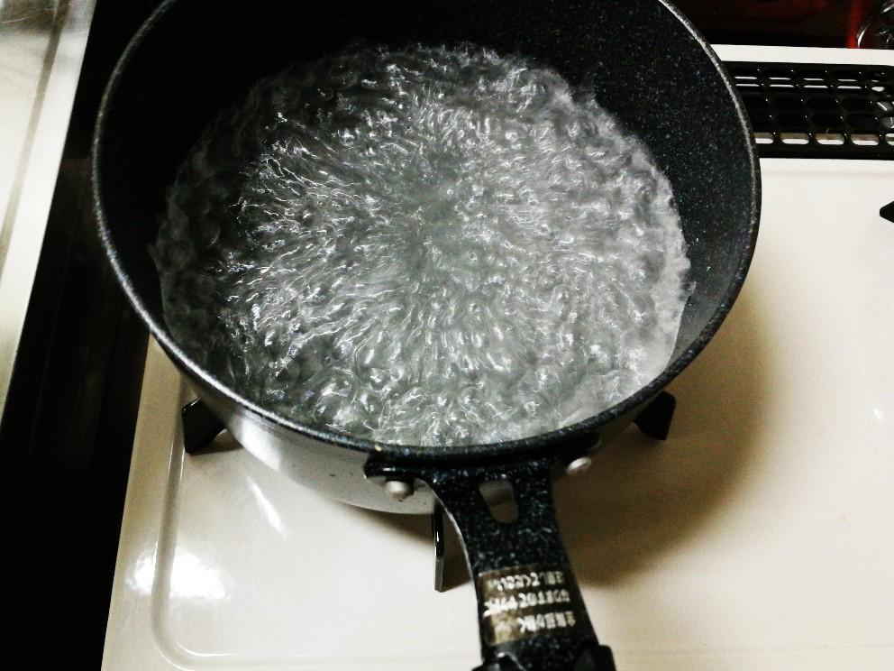 沸騰したお湯
