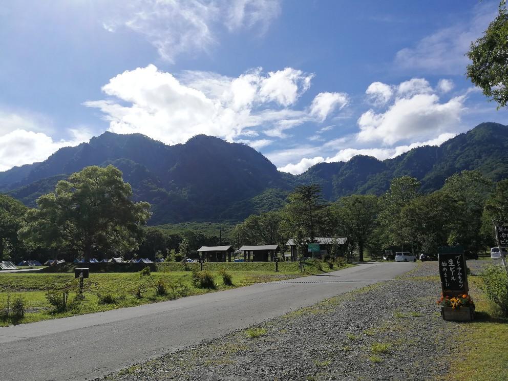 戸隠キャンプ場の解放感溢れる景色